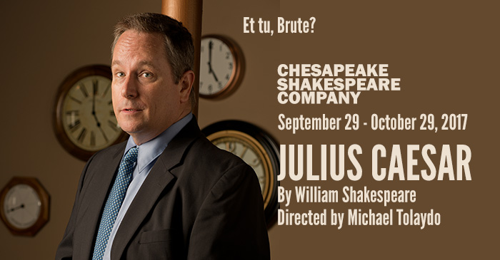 The Tragedy of Julius Caesar remains one of Shakespeare's most recognizable and powerful dramas. Chesapeake Shakespeare Company Theater, 7 South Calvert Street, Baltimore, MD 21202